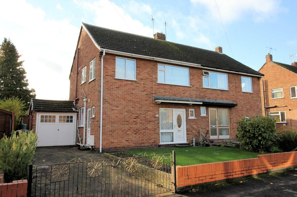 3 Bedrooms Semi Detached House for sale in Brookside Road, Loughborough