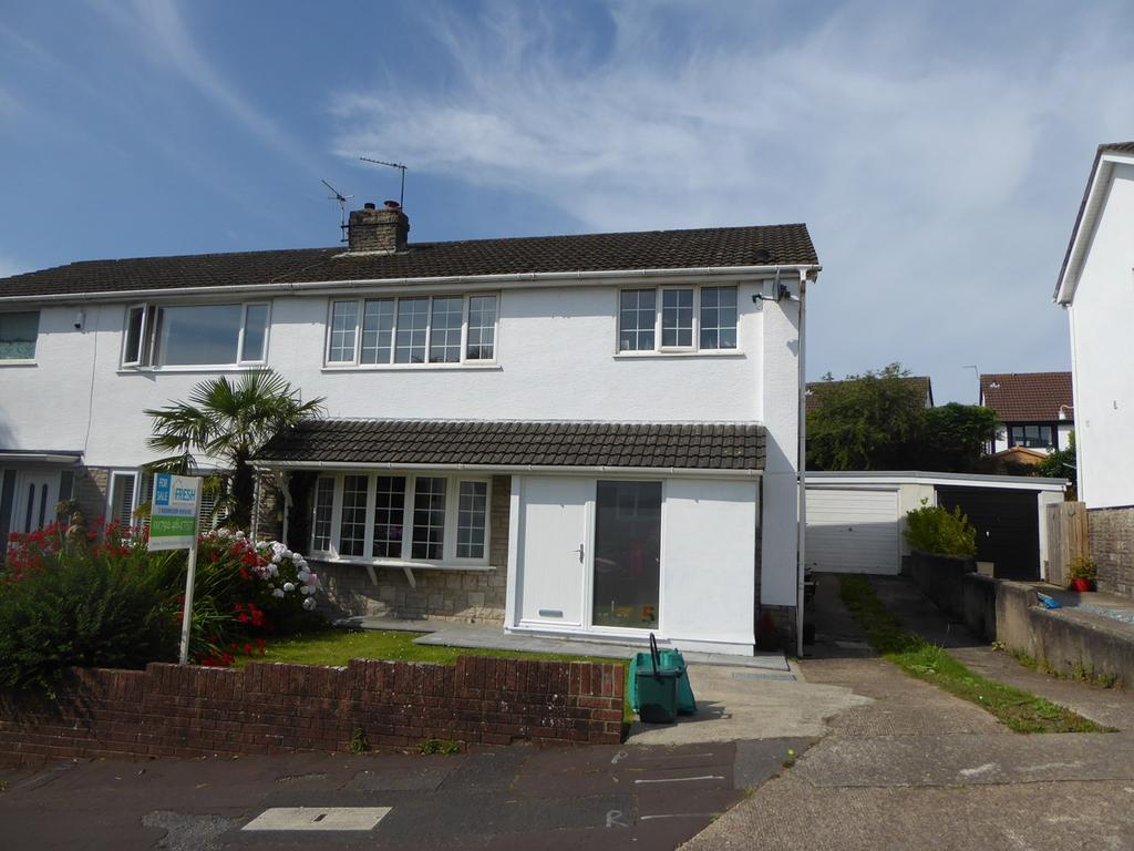 3 Bedrooms Semi Detached House for sale in Lambourne Drive, Newton, Swansea, SA3