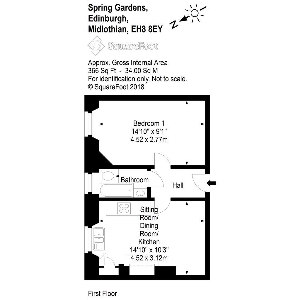 Floorplan: Floor plan Spring Gardens 1041f2