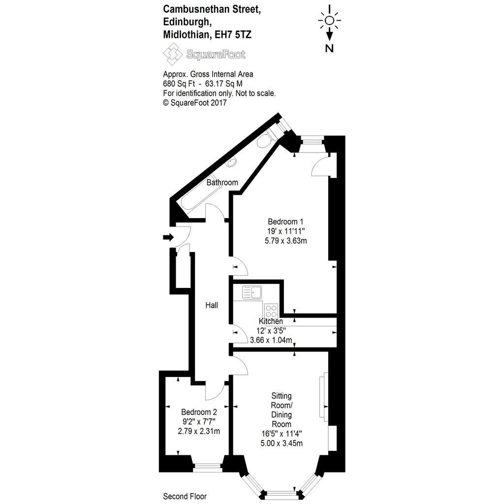 Floorplan: Cambusnethan Street floor plan