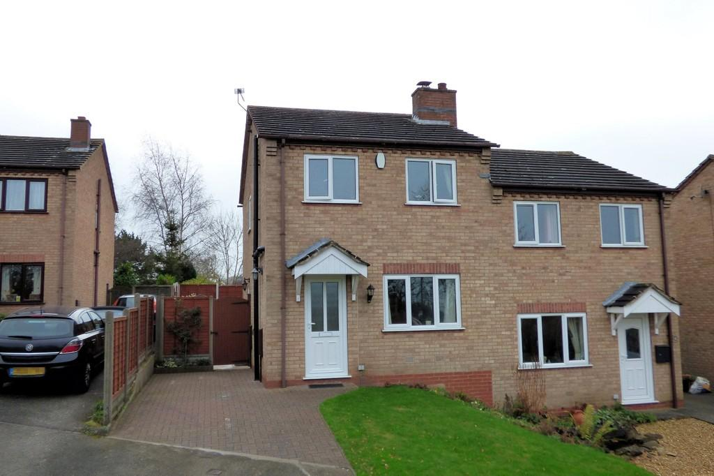 3 Bedrooms Semi Detached House for sale in Cromwell Close, Tutbury