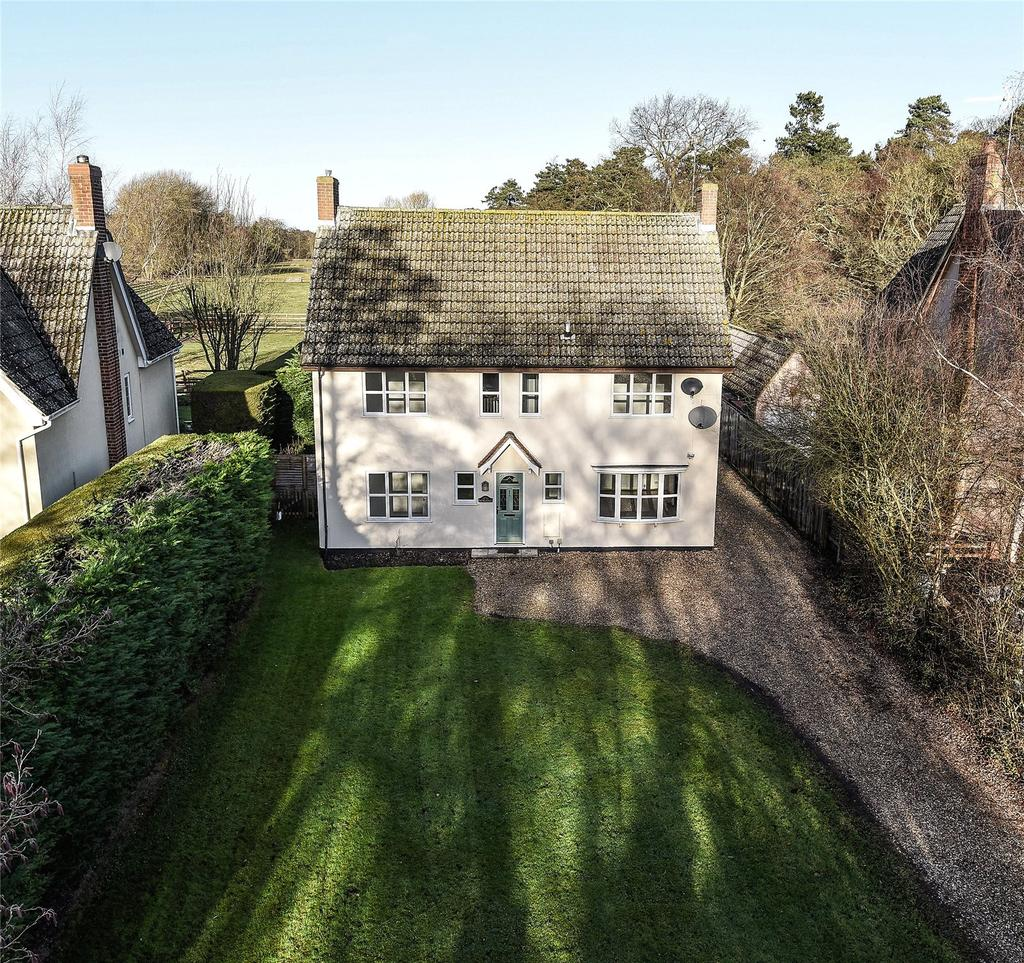 4 Bedrooms Detached House for sale in The Green, Tuddenham, Bury St Edmunds, Suffolk, IP28