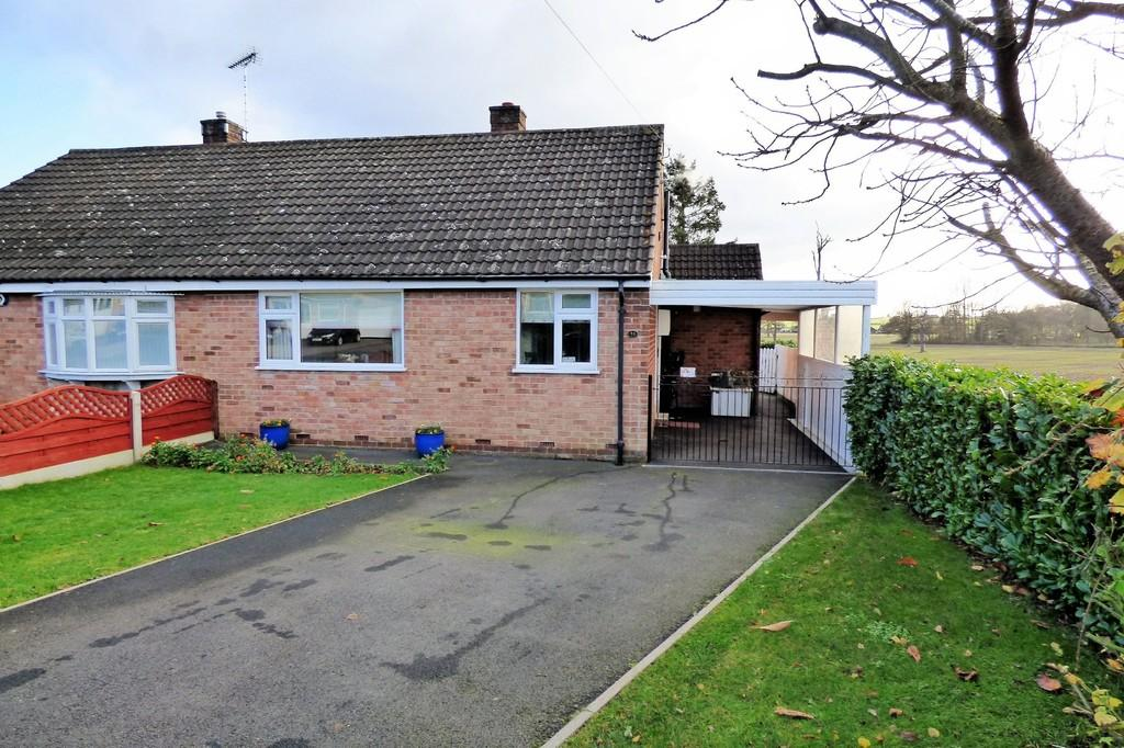 2 Bedrooms Semi Detached Bungalow for sale in Hall Road, Rolleston-on-Dove