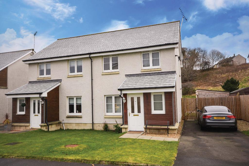 3 Bedrooms Semi Detached House for sale in Wordie Road, Kingsacre, Stirling , Stirling, FK7 9BA