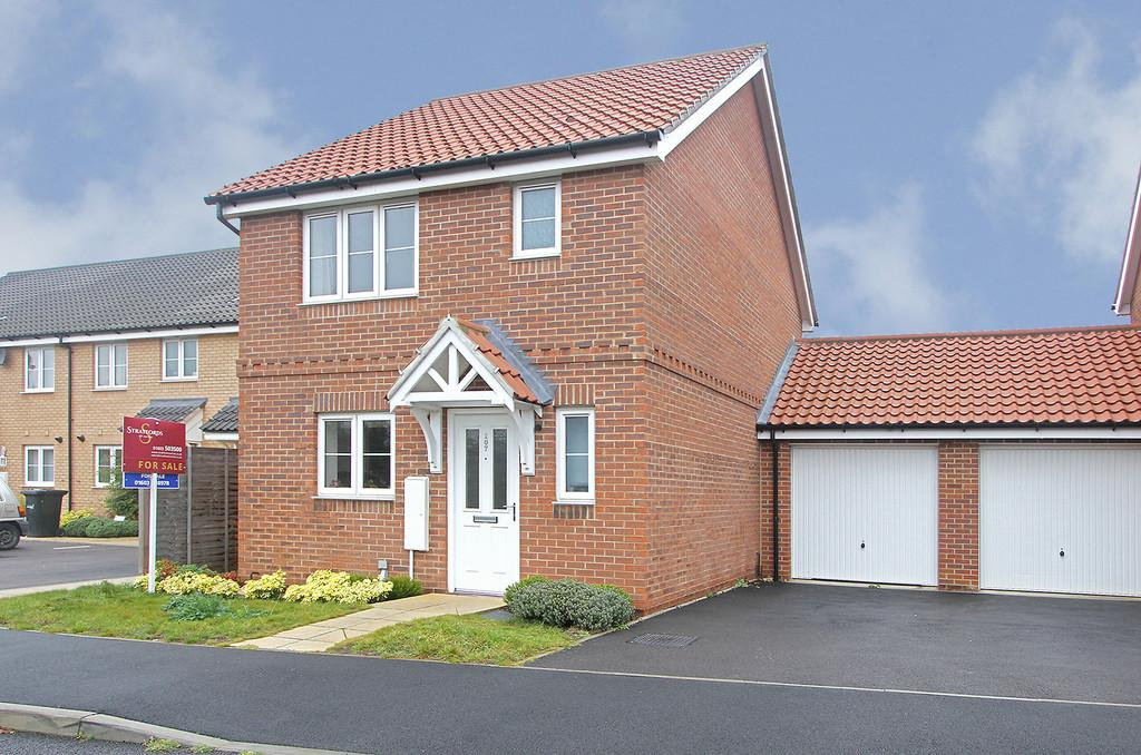 3 Bedrooms Link Detached House for sale in Willowcroft Way, Cringleford