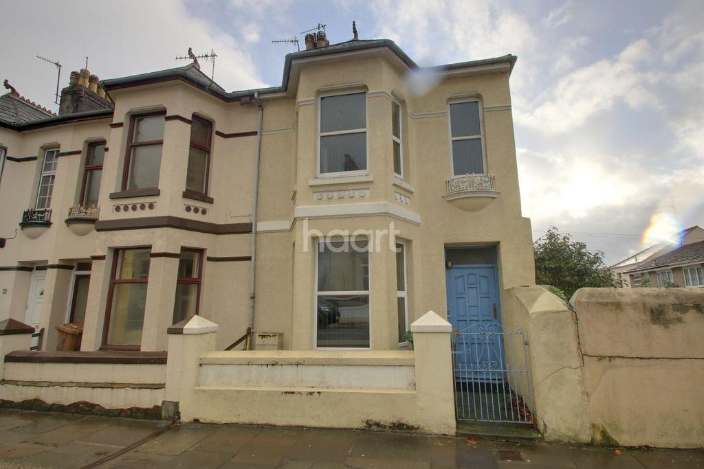 3 Bedrooms End Of Terrace House for sale in Penlee Place, Mutley Plain