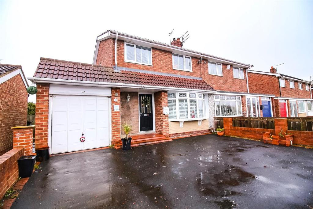 3 Bedrooms Semi Detached House for sale in Belsay Gardens, Red House Farm, Newcastle Upon Tyne