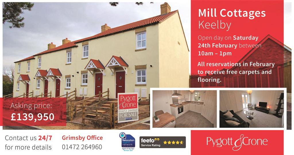 2 Bedrooms Terraced House for sale in Mill Cottages, Mill Lane, DN41
