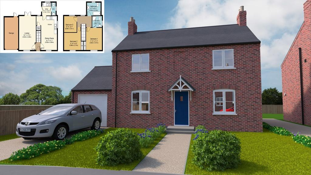 3 Bedrooms Detached House for sale in Plot 19, Grimwood Close, Fleet, PE12