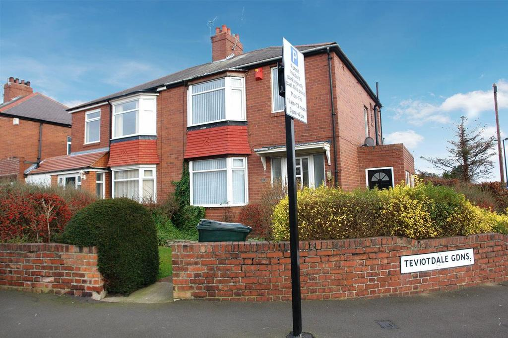 3 Bedrooms Semi Detached House for rent in Teviotdale Gardens, High Heaton, Newcastle
