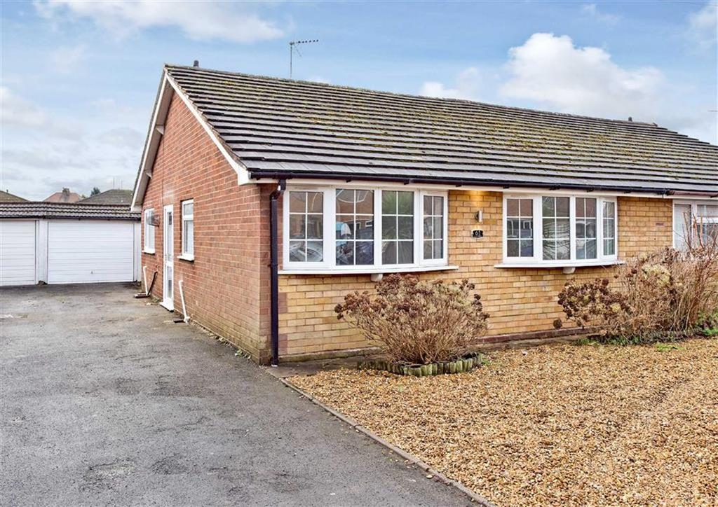 2 Bedrooms Semi Detached Bungalow for sale in 61, Clee View Road, Wombourne, Wolverhampton, South Staffordshire, WV5