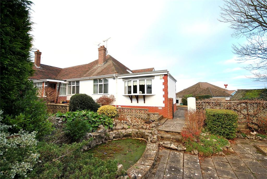 3 Bedrooms Semi Detached Bungalow for sale in Worlebury Park Road, Worlebury, Weston-super-Mare, North Somerset, BS22