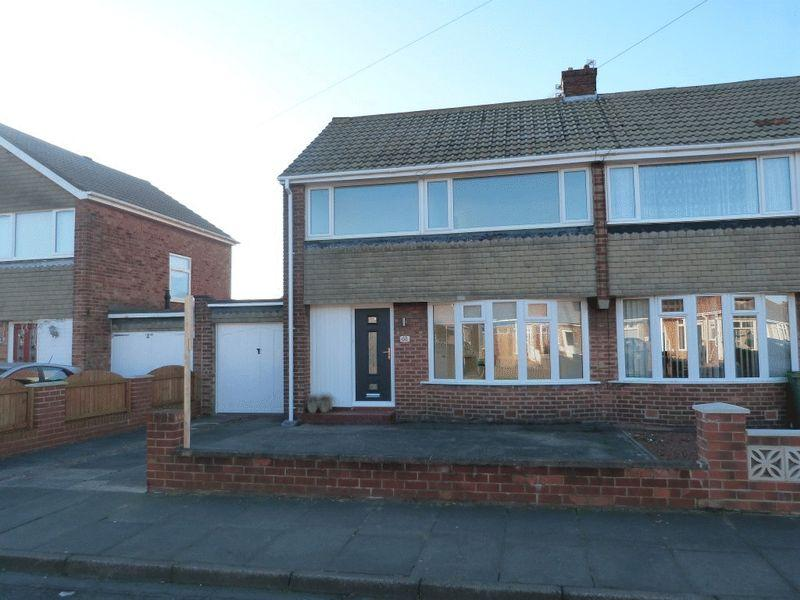3 Bedrooms Semi Detached House for sale in Leander Avenue, Stakeford, Three Bedroom Semi Detached House