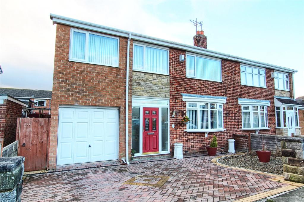 4 Bedrooms Semi Detached House for sale in Whorlton Road, Wolviston Court