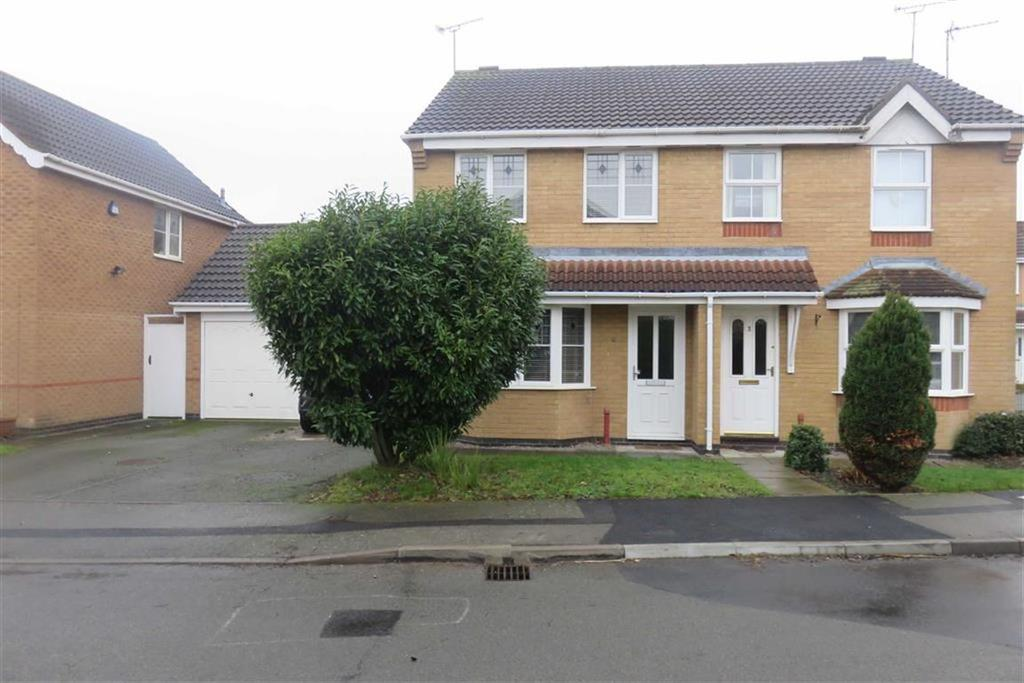 3 Bedrooms Semi Detached House for sale in Merlin Close, Leicester Forest East
