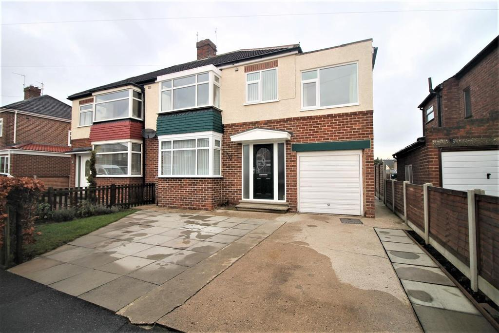 4 Bedrooms Semi Detached House for sale in Coxwold Road, Stockton-On-Tees