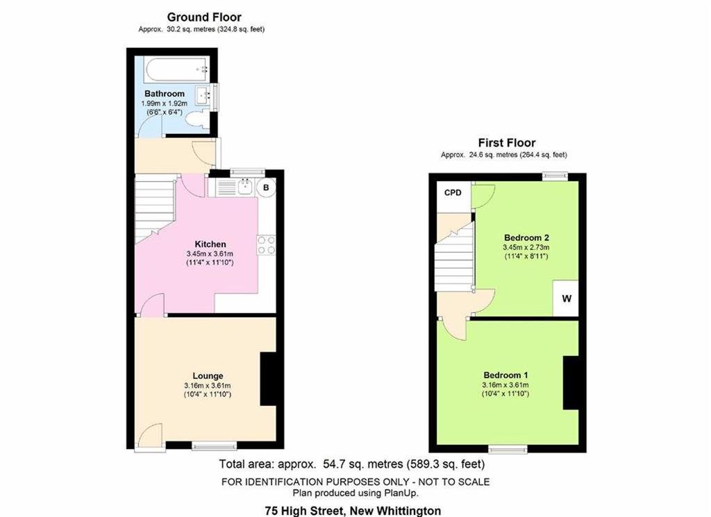 2 Bedrooms Terraced House for sale in High Street, New Whittington, Chesterfield, S43