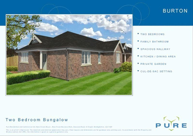 2 Bedrooms Bungalow for sale in Plot 23, Upper Denbigh Road, St. Asaph