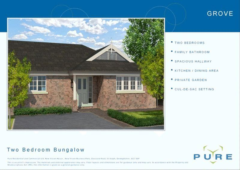 2 Bedrooms Semi Detached Bungalow for sale in Plot 26, Upper Denbigh Road, St. Asaph