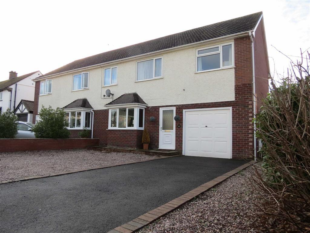 4 Bedrooms Semi Detached House for sale in Overdale Road, Bayston Hill, Shrewsbury, Shropshire