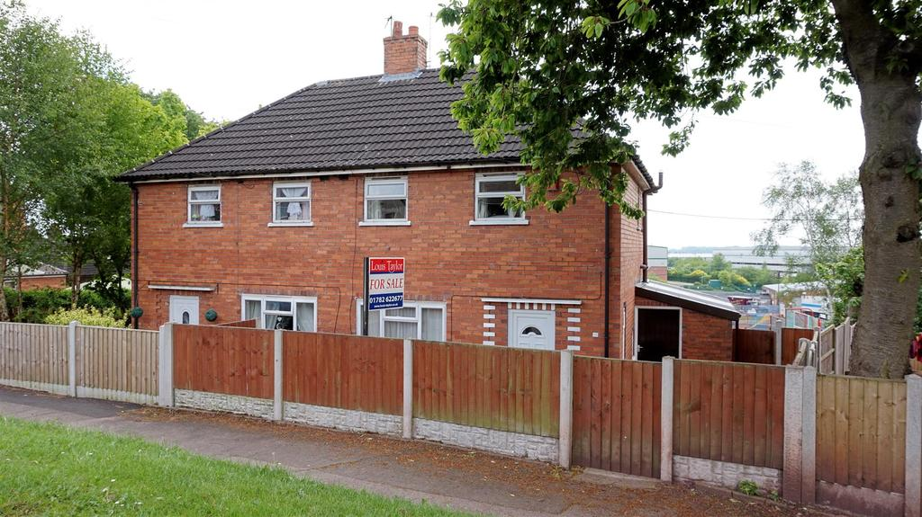 2 Bedrooms Semi Detached House for sale in Romney Avenue, Chesterton, Newcastle, Staffs
