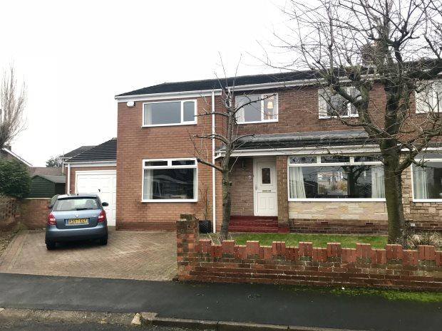 4 Bedrooms Semi Detached House for sale in CONIFER CLOSE, GILESGATE, DURHAM CITY