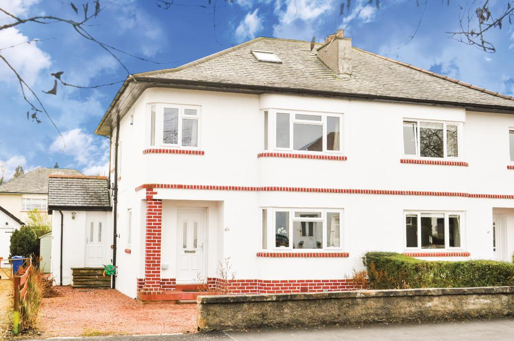4 Bedrooms Semi Detached House for sale in Mosshead Road, Bearsden, East Dunbartonshire, G61 3HL
