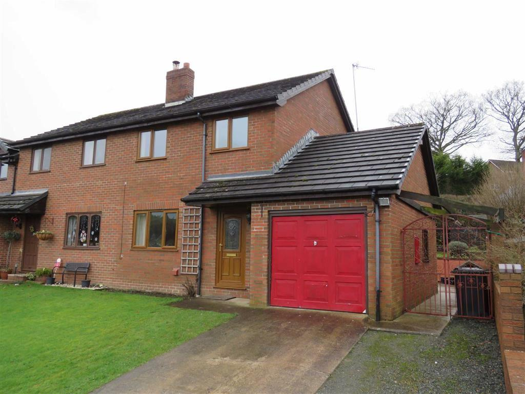 3 Bedrooms Semi Detached House for rent in Ffordd Newydd, Montgomery, SY16