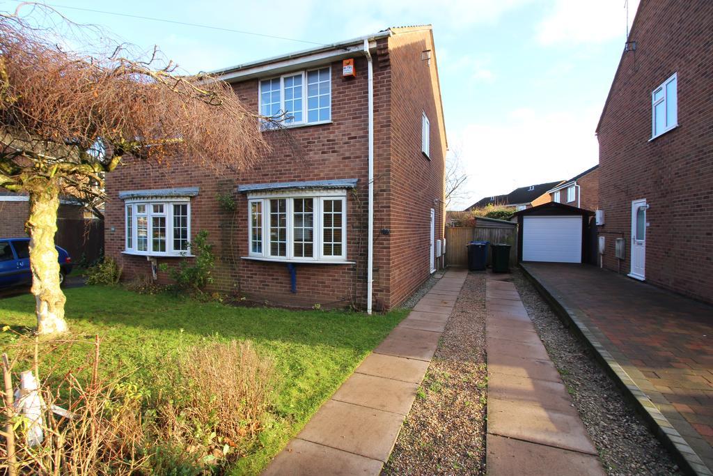 2 Bedrooms Semi Detached House for sale in Langdale Grove, Bingham, Nottingham, Nottinghamshire NG13