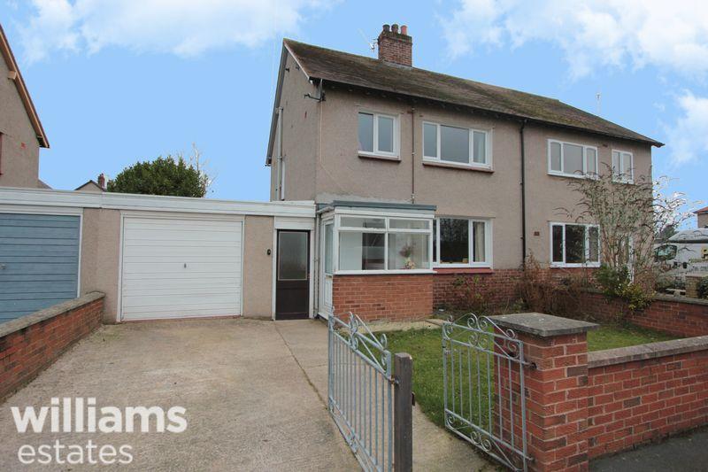 3 Bedrooms Semi Detached House for sale in Maes Gruffydd Estate, Denbigh