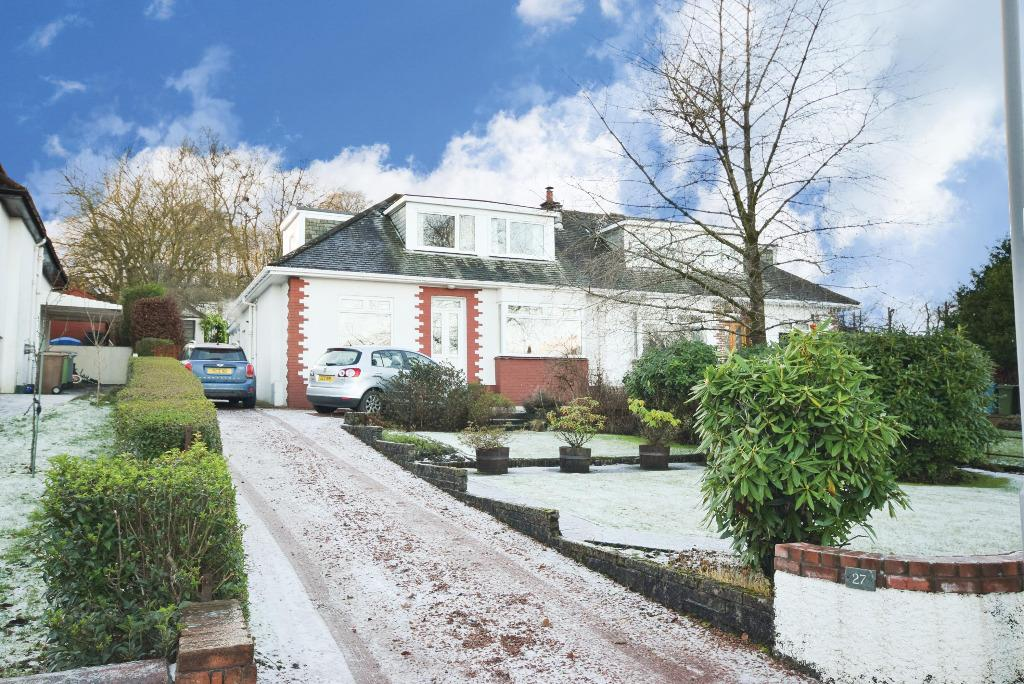 3 Bedrooms Semi Detached Bungalow for sale in Polbae Crescent , Eaglesham , Glasgow, G76 0LW