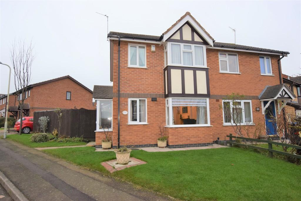 3 Bedrooms Semi Detached House for sale in Marywell Close , Hinckley