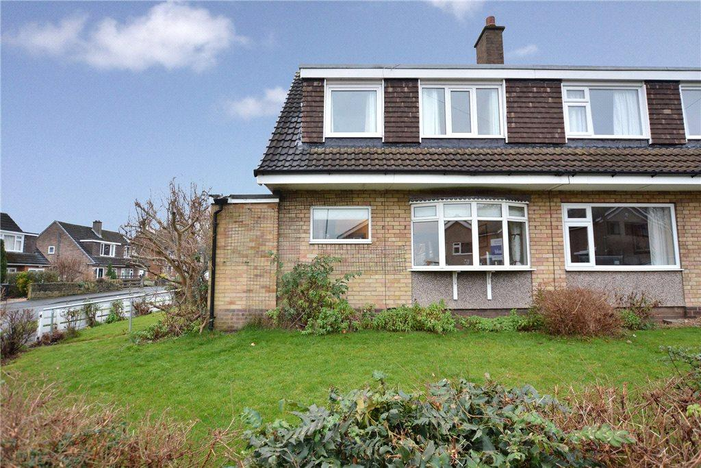 3 Bedrooms Semi Detached House for sale in Holmwood Drive, Meanwood, Leeds, West Yorkshire