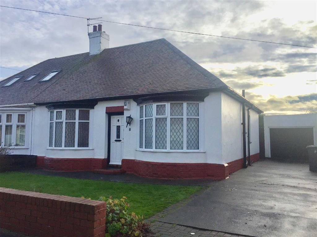 2 Bedrooms Semi Detached Bungalow for sale in Clyvedon Rise, South Shields