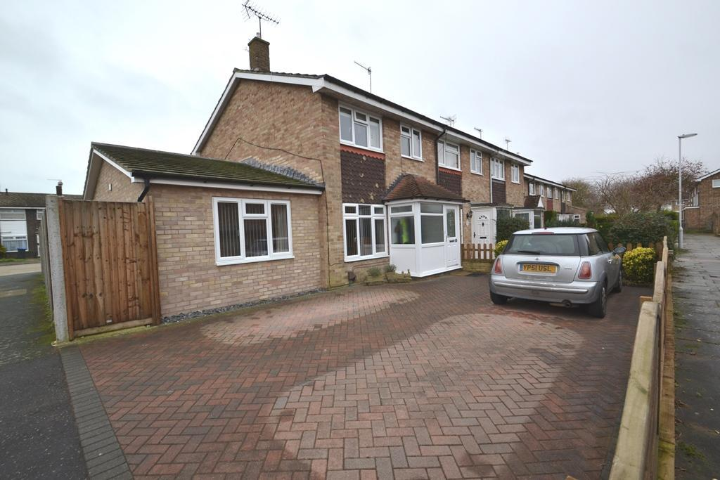 4 Bedrooms End Of Terrace House for sale in Galsworthy Close, Worthing, BN12 6LP