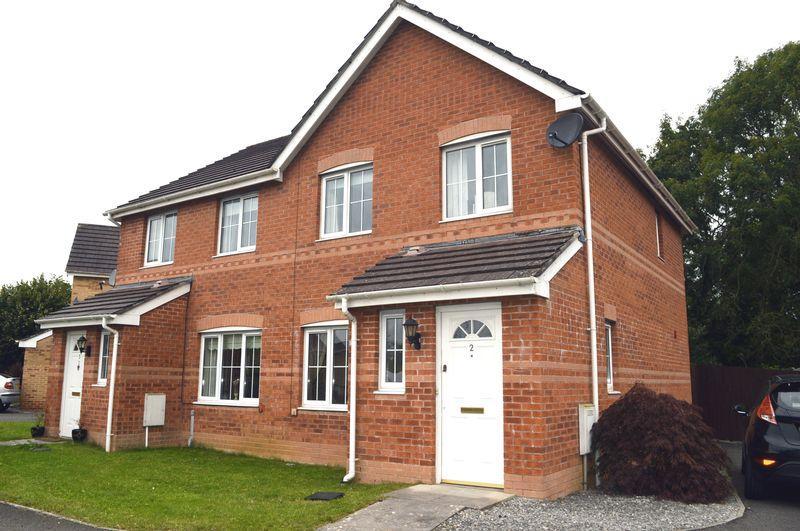 3 Bedrooms Semi Detached House for sale in Maes Gwyn, Broadlands, Bridgend.