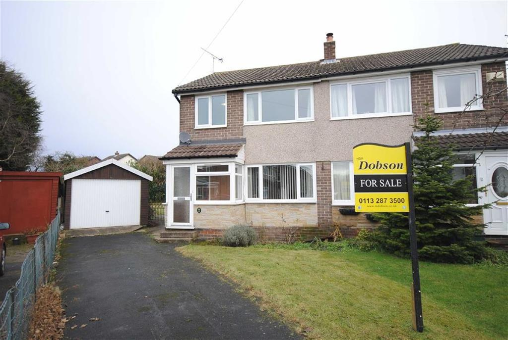 3 Bedrooms Semi Detached House for sale in Rutland Close, Kippax, Leeds, LS25