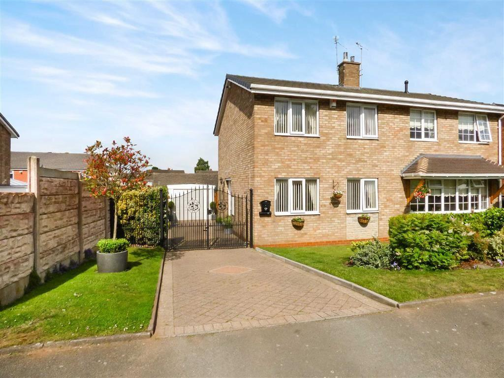 3 Bedrooms Semi Detached House for sale in Redwood Drive, Cannock, Staffordshire