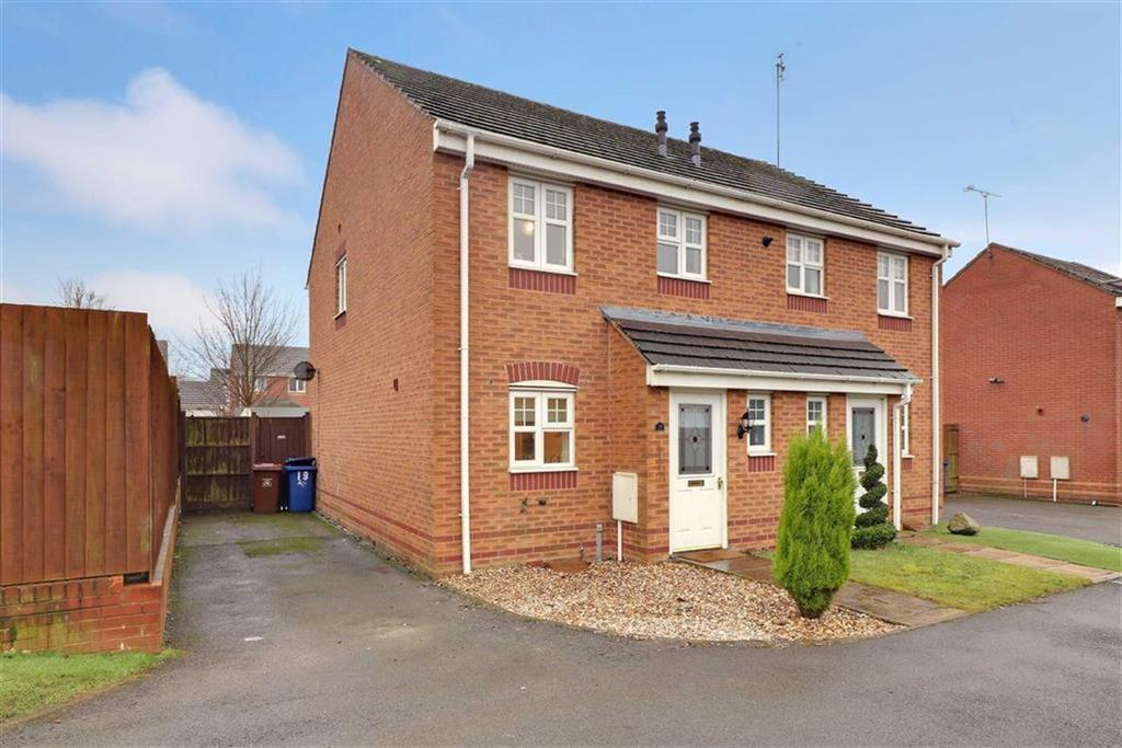 3 Bedrooms Semi Detached House for sale in Horseshoe Drive, Wimblebury, Staffordshire