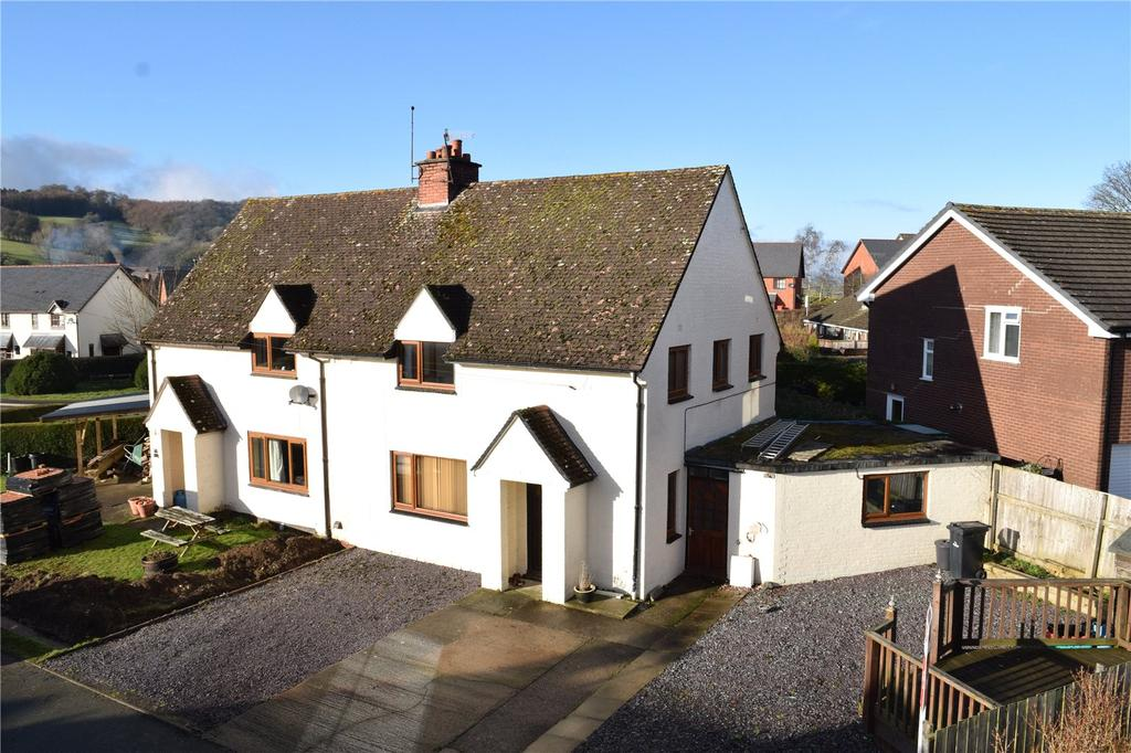 3 Bedrooms Semi Detached House for sale in Maesgarmon, Castle Caereinion, Welshpool, Powys