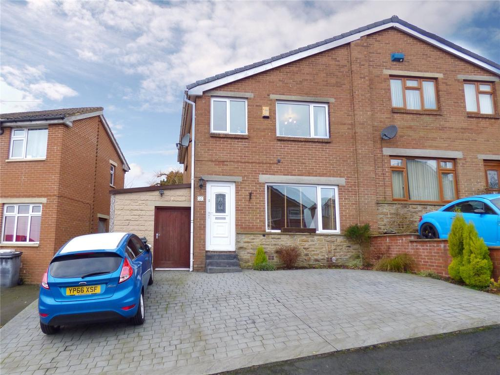 3 Bedrooms Semi Detached House for sale in Woodroyd, Golcar, Huddersfield, West Yorkshire, HD7