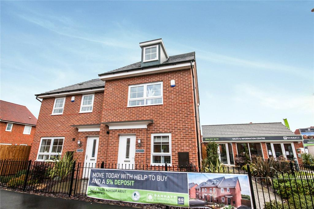 4 Bedrooms Semi Detached House for sale in Plot 92, Brutus Court, North Hykeham, Lincoln, LN6