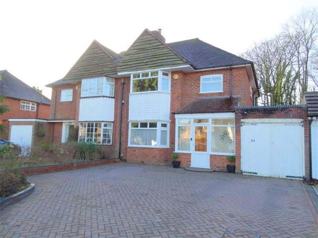 3 Bedrooms Semi Detached House for sale in Highwood Avenue, Solihull, B92 8QY