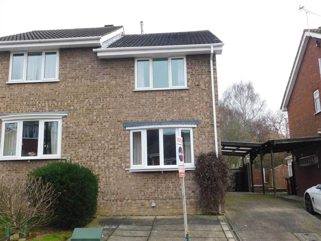 2 Bedrooms Semi Detached House for sale in WORCESTER CLOSE, BOTTESFORD, SCUNTHORPE