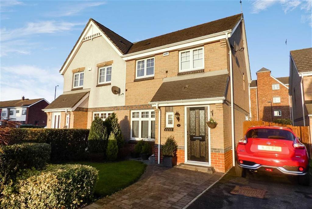 3 Bedrooms Semi Detached House for sale in Beachborough Close, Preston Grange, North Shields