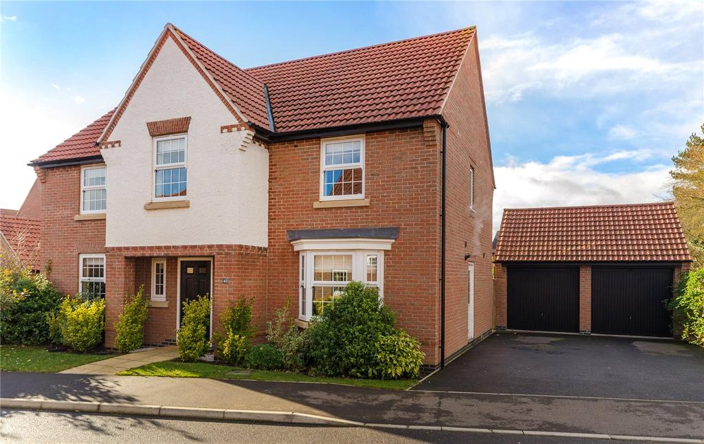 4 Bedrooms Detached House for sale in Hampden Way, Greylees, Sleaford, Lincolnshire, NG34