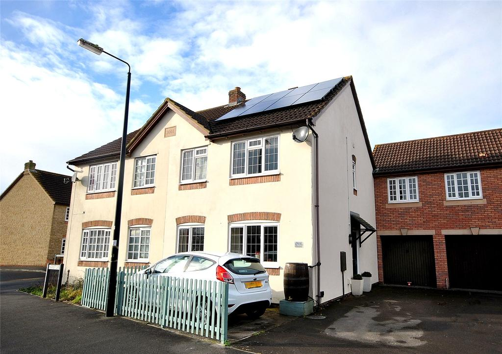 3 Bedrooms Semi Detached House for sale in Harvest Lane, West Wick, Weston Super Mare, North Somerset, BS22