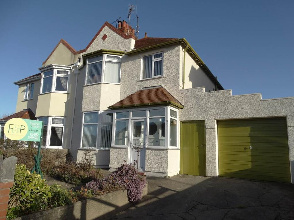 3 Bedrooms Semi Detached House for sale in 214 Dinerth Road, Rhos on Sea, LL28 4UH