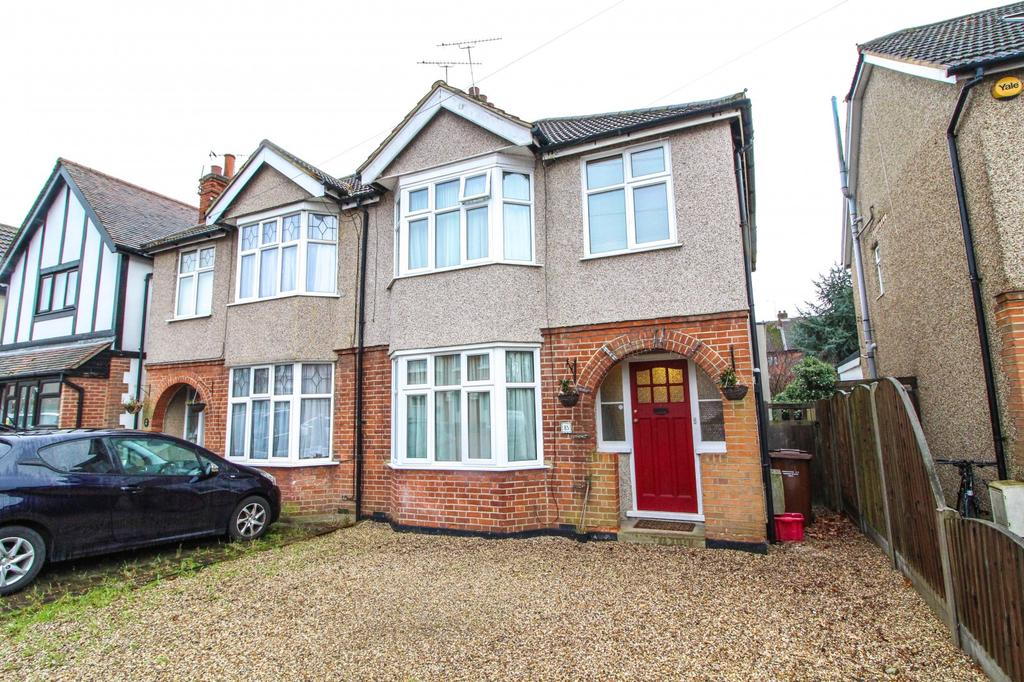 3 Bedrooms Semi Detached House for sale in Woodman Road, Warley, Brentwood, Essex, CM14