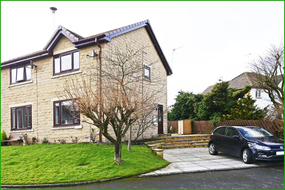 2 Bedrooms Semi Detached House for sale in MILE END CLOSE, FOULRIDGE BB8